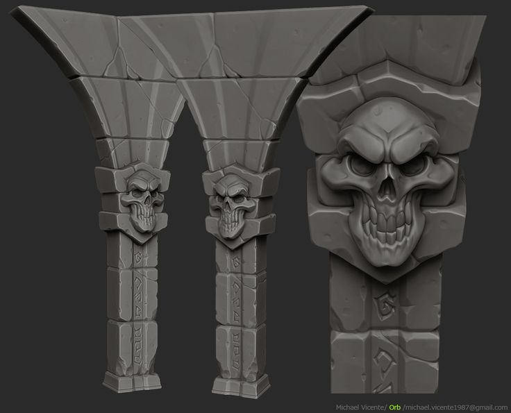 ArtStation - Throne challenge - polycount , Michael vicente - Orb