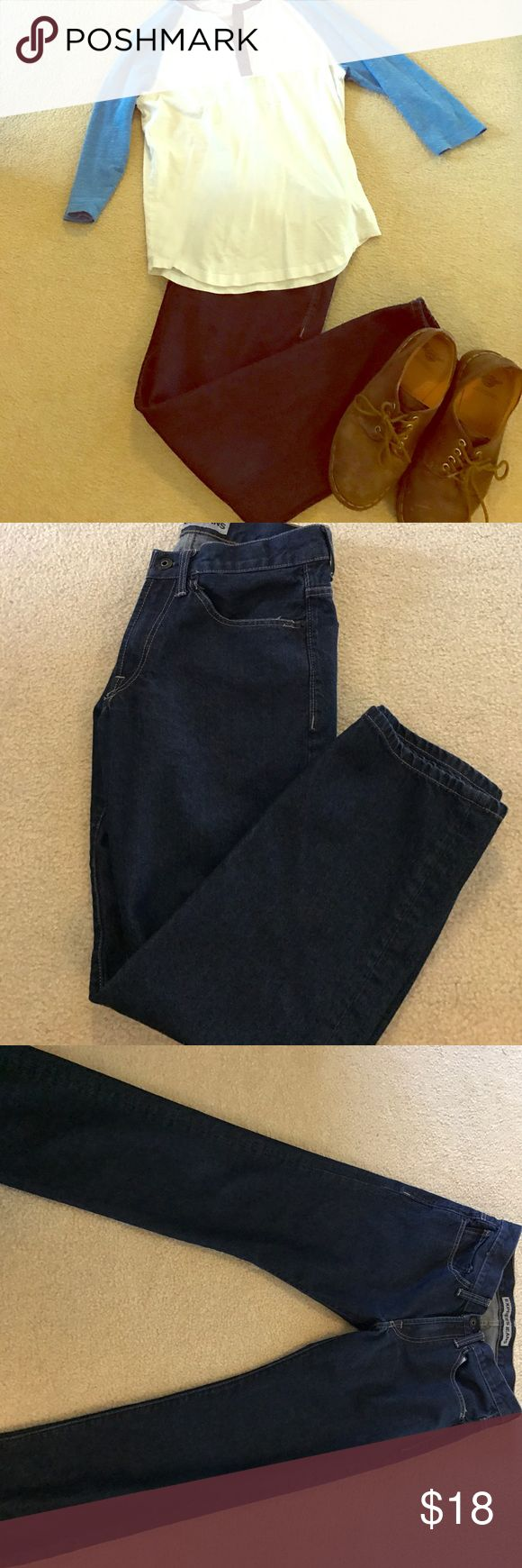Dark wash Express men's jeans Practically new express dark wash Kingston classic fit straight leg jeans. Size 30x30. Shoes in cover photo are also available in my closet! Express Jeans Straight