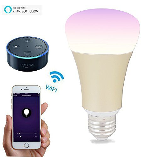 From 16.90:Wifi Light Bulb Alexa Led - Victorstar Wireless Dimmable Multicolored Lights Works With Alexa Ios Android Devices By App Group Control Scene Sunlight And Timer Variety Light Mode E27 5w