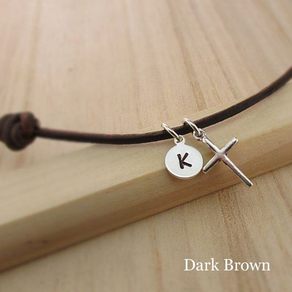 Personalized Boys Cross Necklace Male Jewelry Mens by TNineDesign                                                                                                                                                                                 More
