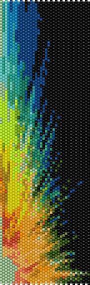 BPRB0012 Rainbow 12 Even Count Single Drop Peyote by greendragon9
