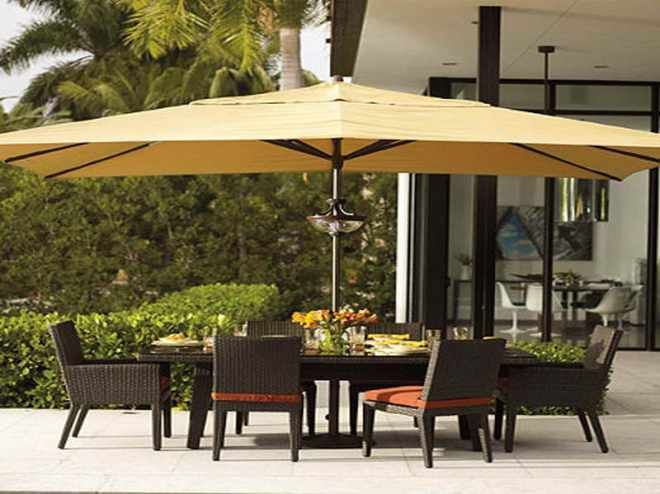 Large Cover Patio Umbrellas Yellow For Backyard Space Ideas With Black  Wicker Patio Furniture Sets