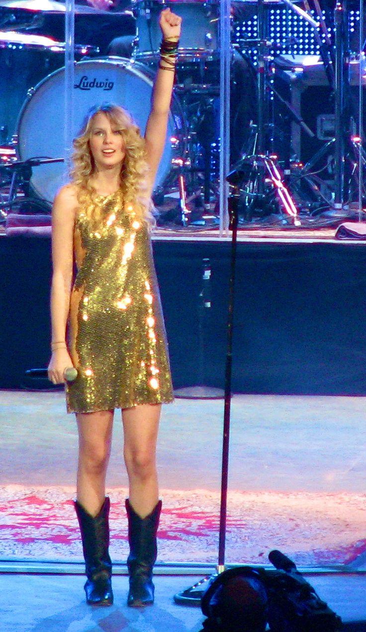 Fearless Tour gold glitter dress