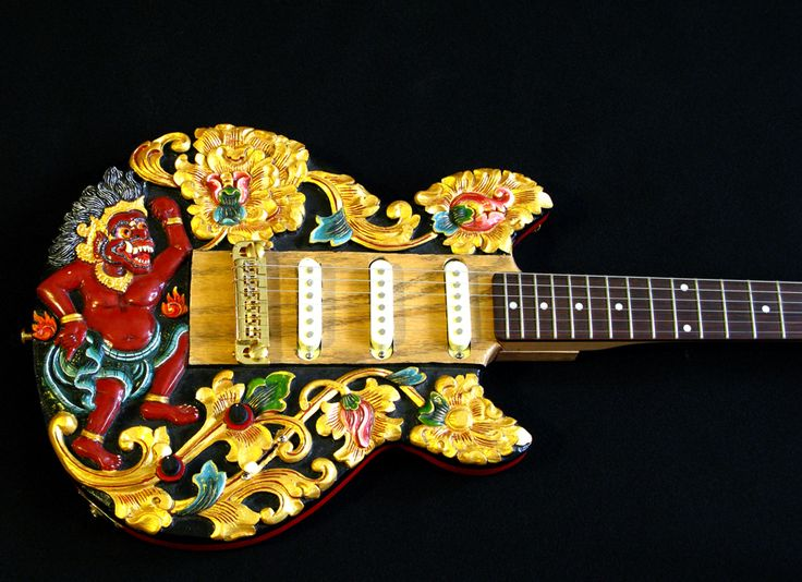 Carved Bali Guitar