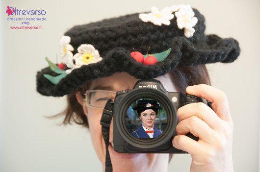 schema gratuito per il cappello di Mary Poppins all uncinetto ... fdfaa9931461