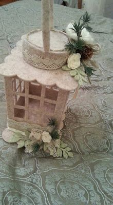 my country dream handmade felt lantern shabby chic lantern decorative ornaments felt shabby