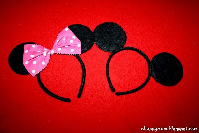 Mickey/Minnie Mouse ears DIY
