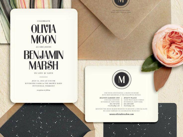 Os 10 convites de casamento mais pinados na Itália