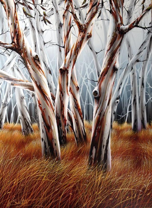 """Snowgums"" by Warren Salter www.tuskgallery.com.au"