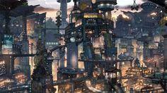 """Cyberpunk, """"High Tech, Low Life"""" é o termo mais comum para descrever essa ideia…"""