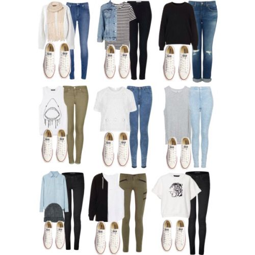 What to wear with white converse