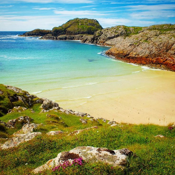 Nice warm beach on the Isle of Iona, Scotland