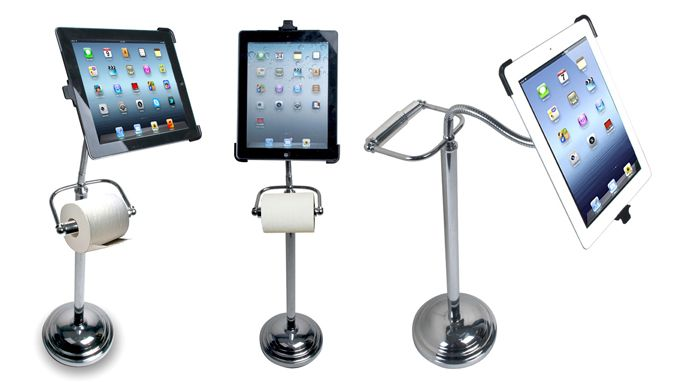 Toilet paper holder iPad Stand