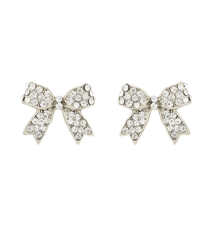 Forever New LINDY PAVE BOW STUD CRYSTAL
