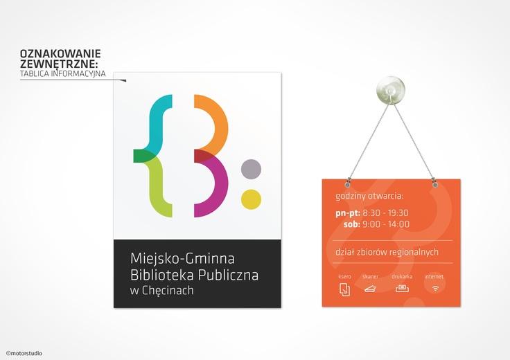 System Informacji Wizualnej dla bibliotek publicznych. Tablice informacyjne.