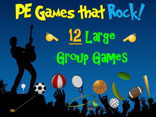 """Another great resource from Cap'n Pete! These physical education resources are """"Rockin"""" games--a series of 12 fast-paced, high energy, large group PE games. Your elementary and middle school PE students will love these games!"""