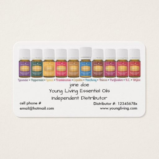 25 best ideas about Young living business cards on