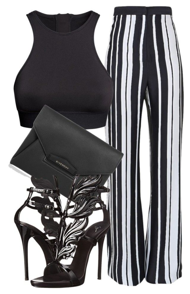 """""""Untitled #149"""" by styledbyrudy ❤ liked on Polyvore featuring Balmain, H&M, Givenchy and Giuseppe Zanotti"""