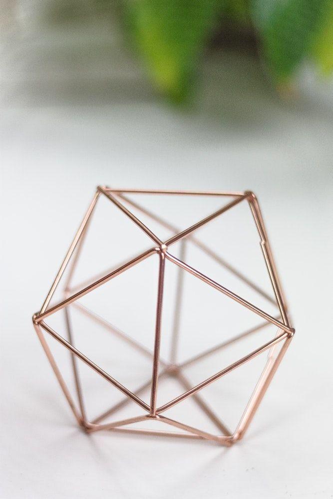 Dekoverleih Dekoelement Prisma Kupfer In 2020 Kupfer