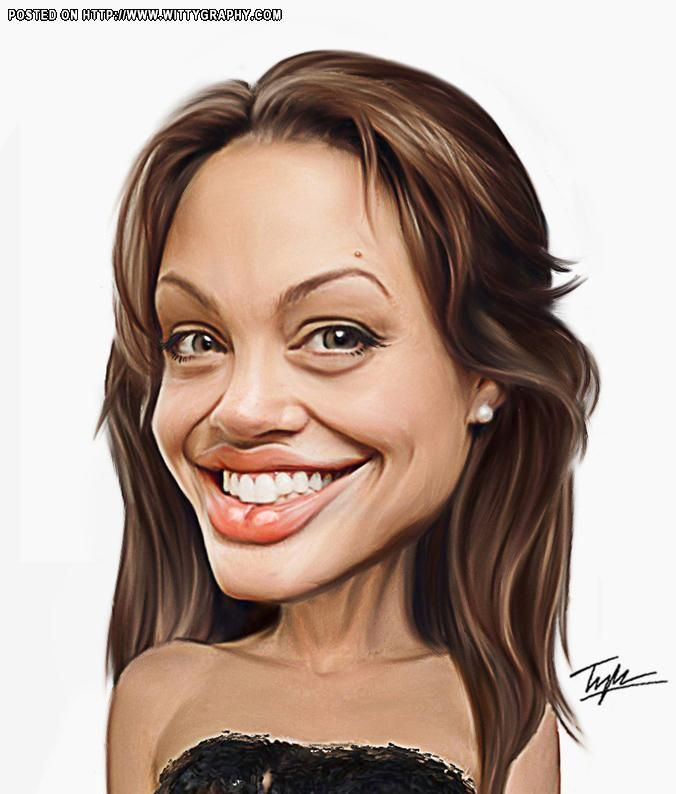 Angelina Jolie caricature test. She has lots.