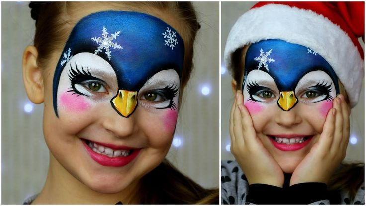 Pretty Penguin — Animal Face Painting & Makeup for Kids - YouTube