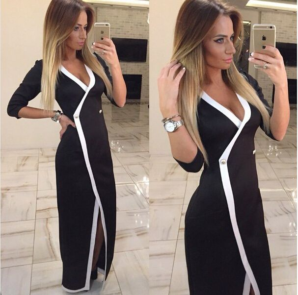 =>quality product2016 Spring Autumn Sexy Women Deep V Neck Split Front Slim Party Evening Slit Three Quarter Dress Q02412016 Spring Autumn Sexy Women Deep V Neck Split Front Slim Party Evening Slit Three Quarter Dress Q0241Best...Cleck Hot Deals >>> http://id629508371.cloudns.pointto.us/32591730168.html images