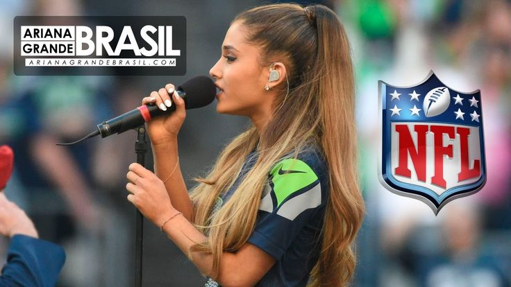 Ariana Grande performs the National Anthem of USA at NFL 2014 [HD] at Seattle Seahawk Stadium.