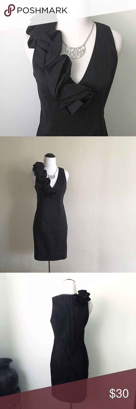S.L Fashions black ruffle dress Gorgeous S.L Fashions black ruffle dress. Perfect condition, great quality! S.L Fashions Dresses