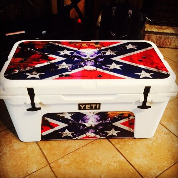 Yeti  cooler ice chest usatuff kit .  Www.usatuff.com Rebel Flag...  Flag flags