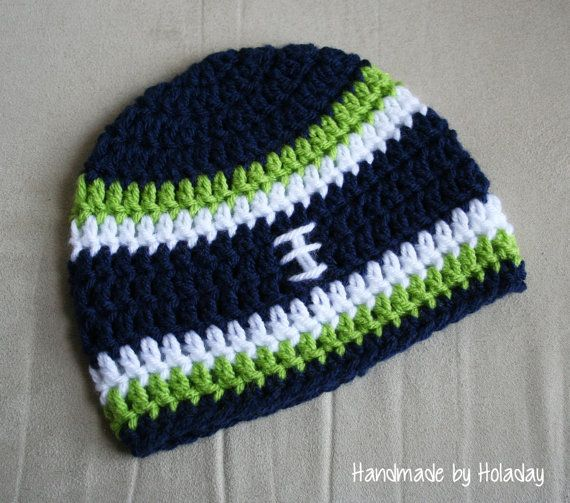 Seattle Seahawks Crochet Football Hat {Handmade by Holaday}