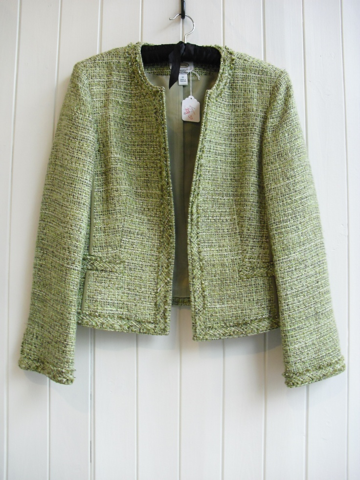 Going Green OR boucle jackets  Green Jacket J58/3 £29.30 size 16