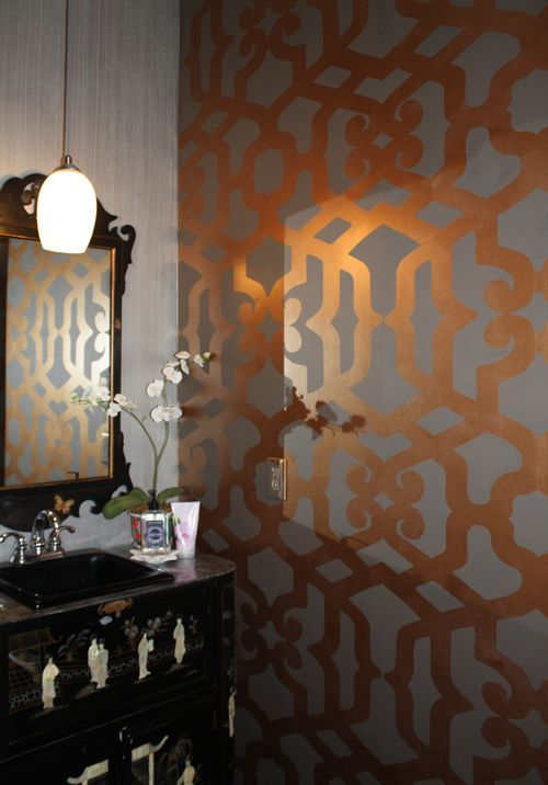this wall stencil/paint. want in my house. somewhere....