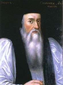 Portrait of Cranmer painted by an unknown artist after Henry VIII's death.It was said that his beard signified his mourning of the king and his rejection of the old Church.