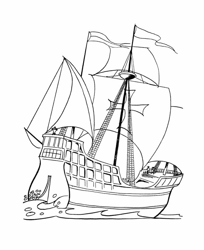 Galleon Coloring Pages