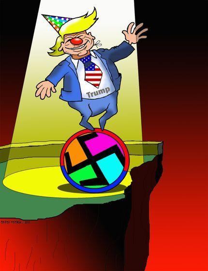 Cheerful Clown Mr Trump