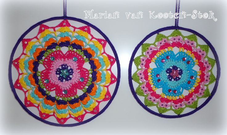 Crochet suncatchers. I used this patttern http://pinterest.com/pin/126734176987116529/
