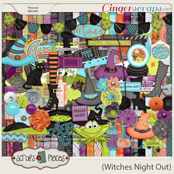 Witches Night Out kit by Scraps N Pieces