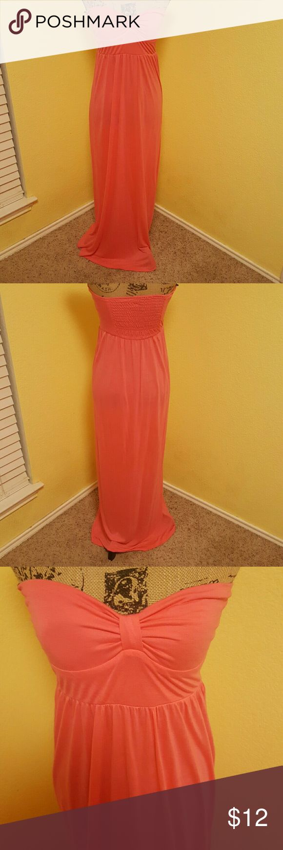 Forever 21 Coral maxi dress Forever 21 coral colored maxi dress Forever 21 Dresses Maxi