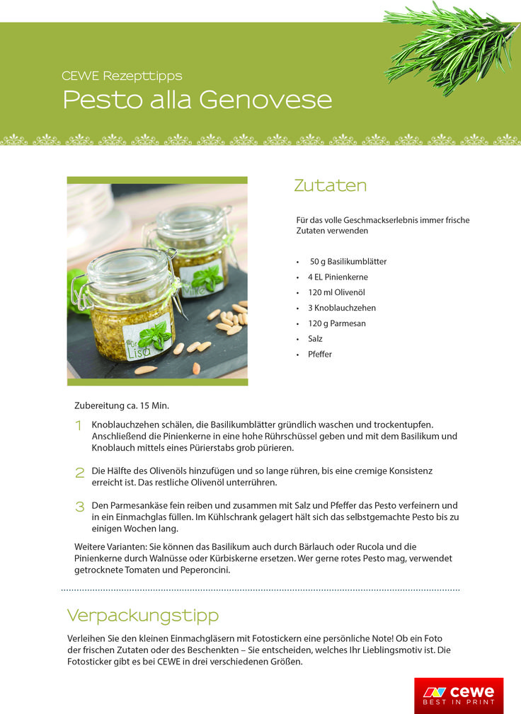 Mit unserem Rezepttipp könnt ihr das herbstliche Pesto alla Genovese ganz einfach selbstmachen! Yummieeee :) #rezept