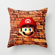 Mario Bross Throw Pillow