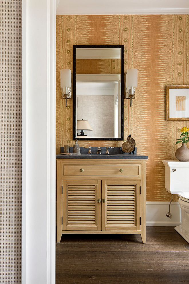This would make a lovely guest bath | Vero Beach Home by Weaver Design Group | Home Adore
