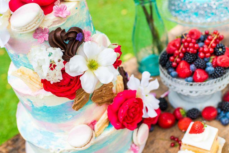 Crème weddingcake.