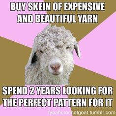 The best crochet & knit memes at the Dainty Loops blog |
