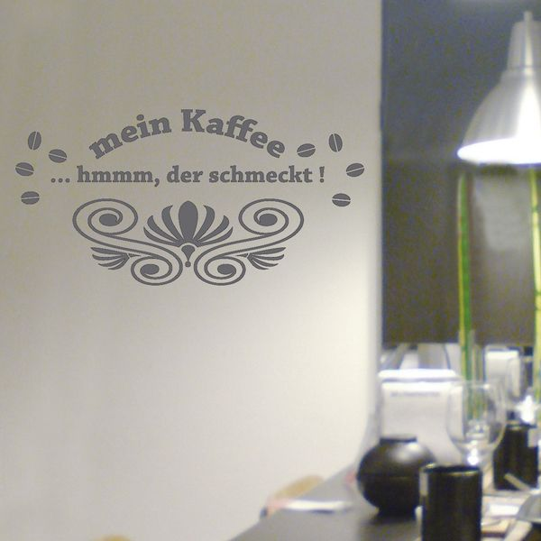 Spectacular Wandtattoos Kaffee mit Schn rkel Aufkleber von mama und ich auf DaWanda Alle