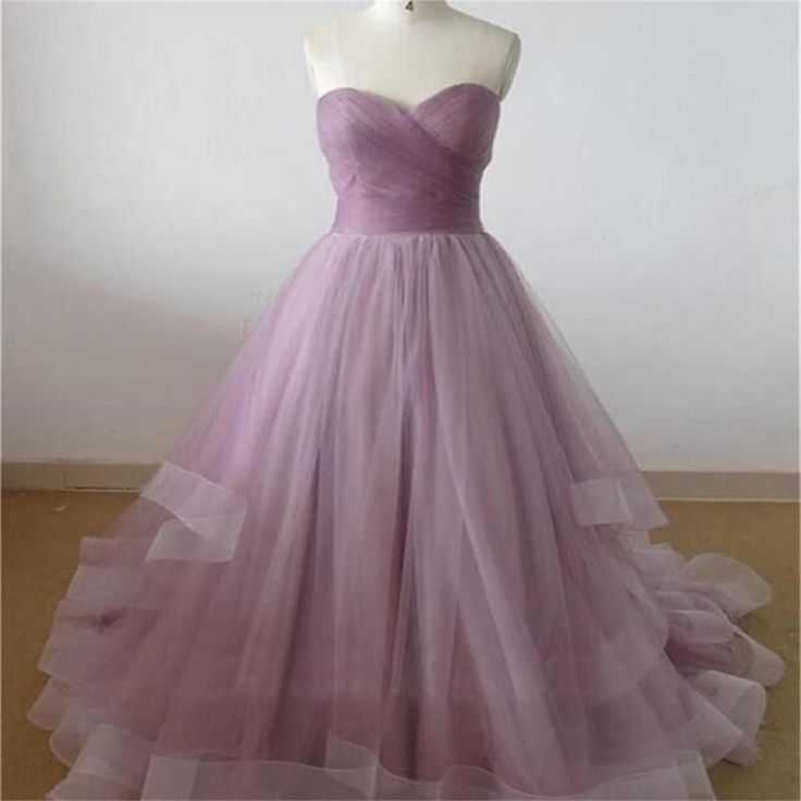 Long Sweetheart Organza Sweet Heart Cheap Evening Long Prom Dresses Ball Gown Online, PD0125