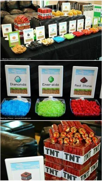 Minecraft birthday party ideas, my inner geek is coming through