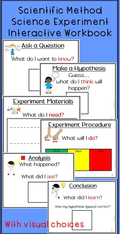 Education Science Wissenschaftliche Methode Wissenschaftliches Experiment Interaktives Arbeitsbuch Fur Autismus Und Education Science Scientific Method Elementary Science Experiments Science Experiments Kids Elementary