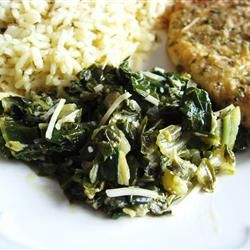 One-skillet recipe for Swiss chard with Parmesan cheese.  I am trying this one today!