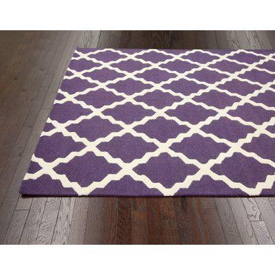 Homespun Moroccan Trellis Purple Rug