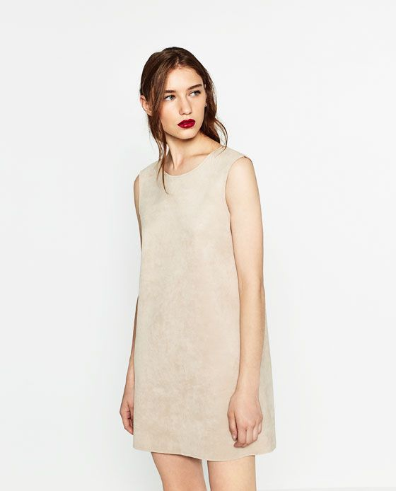 Image 2 of FAUX SUEDE DRESS from Zara